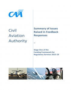 The CAA summary: for a PDF copy, click on the link at the end of the story